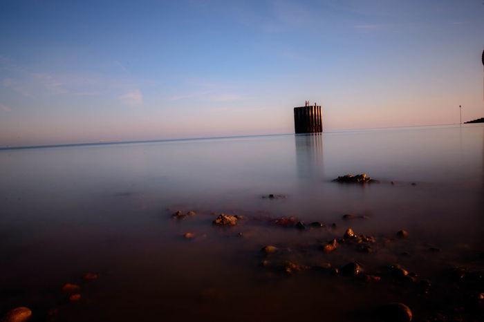Beach Blurred Motion Harbour Long Exposure Sky Sunrise Tranquility Water Whitstable Whitstable Harbor