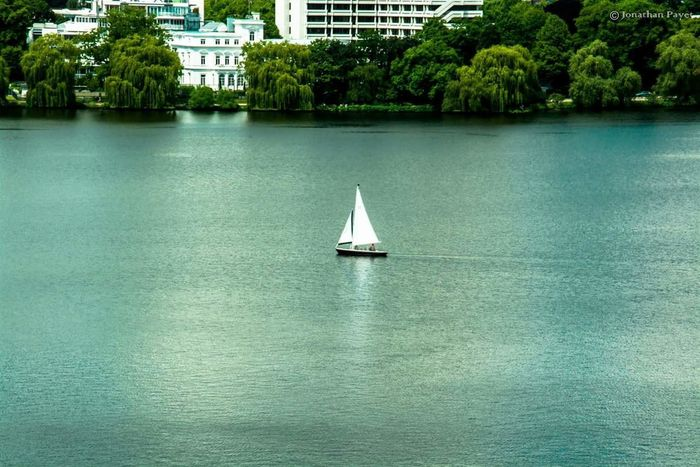 Water Nautical Vessel Tree Sailing Lake Sailboat Reflection Tranquility Nature Vacations Outdoors Scenics Floating On Water Day Yacht Yachting Beauty In Nature Boat Boats⛵️ There Strength Germany Hamburg Nautica Morning