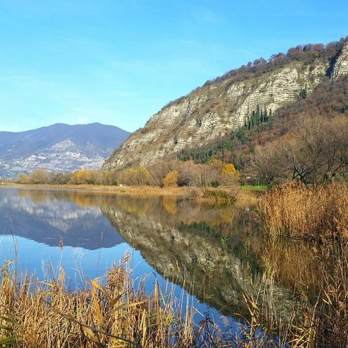 Torbiere Acqua Montagna Riflesso coloriautunnali panorama meraviglia dicembre lunedi expoborghi iseo