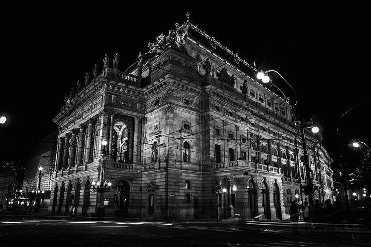 Battle Of The Cities Night Architecture Building Exterior Illuminated Built Structure History City Façade Monochrome Photography Outdoors City Life Famous Place Tourism Arch No People Night Architecture Building Exterior Illuminated Overnight Success Travel Destinations Blackandwhite Light And Shadow Prague