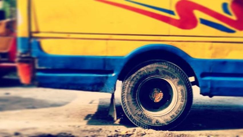 Bus Tire Yellow Journey Texture Design Soil Colorful Blue Travel Road Roadtrip Photograph Photographylovers Mobilephotography Mi4i Highsaturation