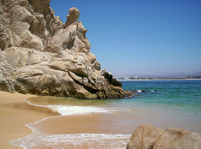 Beach Sea Sand Blue Nature Clear Sky Sky Outdoors Scenics Travel Destinations Horizon Over Water Water Coastal Feature No People Sand Dune Wave Beauty In Nature Lovers Beach Loversbeach Cabo CaboSanLucas Cabo San Lucas Mexico Rock Formation EyeEmNewHere