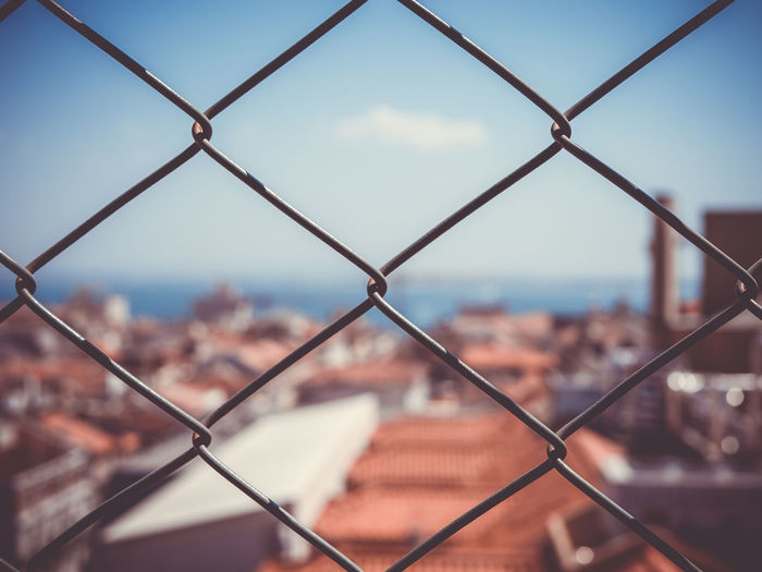 Background Image Background Photography Eyeem Marketplace EyeEm Gallery Bestsellers Chemtrails Ch Big City Chainlink Chainlink Close Up Chainlink Fence Chainlinkfence City City Landscape Close-up Day Fance Fance View Fence Closeup Focus On Foreground Landscape No People Sky