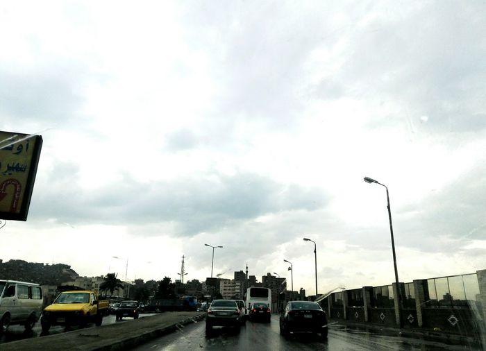 Highway Rain Sky