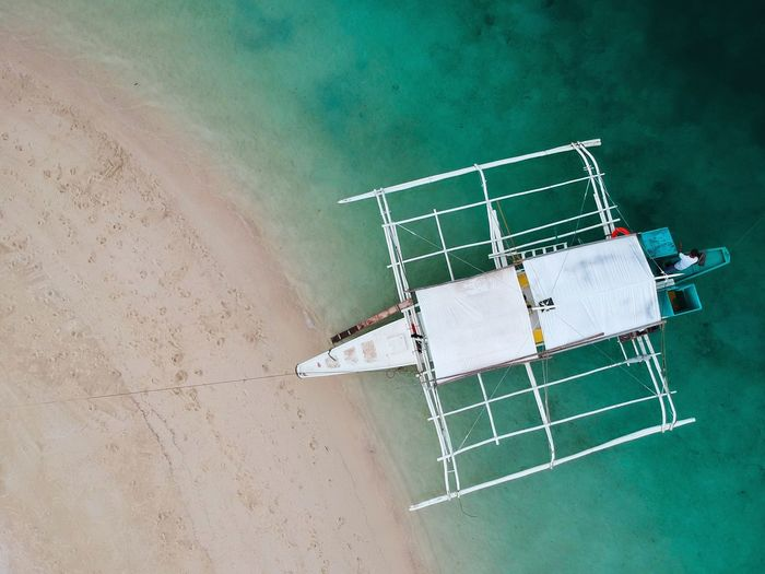 Coron. Sand Water Sea Beach Nautical Vessel No People Outdoors Nature Tranquility Summer Day Beauty In Nature Scenics Sky Dji Drone  Birdview Above Boat Sea Water Philippines Coron, Palawan Perspective The Traveler - 2018 EyeEm Awards