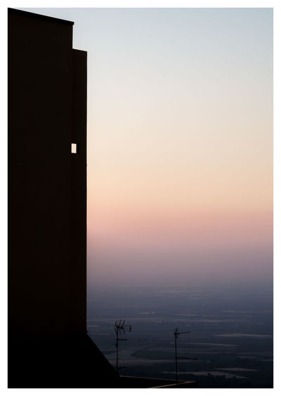 Architecture Black Clear Sky No People Outdoors Silhouette Sky Sunset