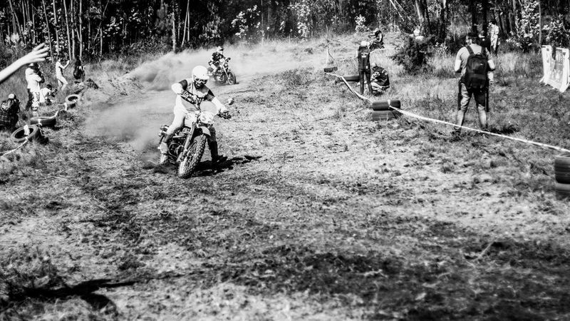 Bicycle Day Dusty Track Grass Land Vehicle Low Section Men Mode Of Transport Monochrome Photography Moto Motorcycle Motorcycles Nasmgraphia Nature One Person Outdoors Real People Transportation Tree