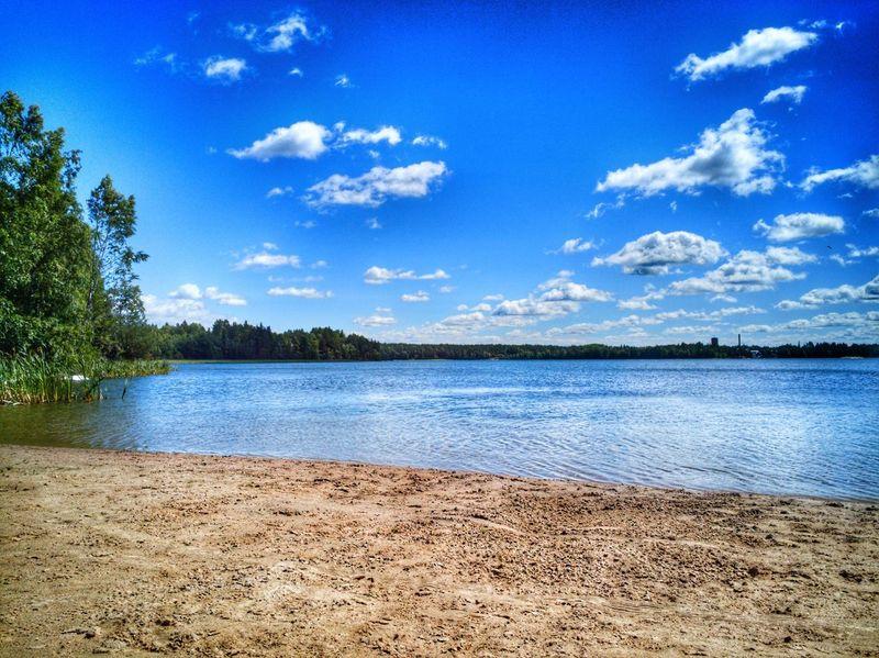 Outdoors Finland Beauty In Nature Phoneonly PhonePhotography Beach Littoinen Littoisten Järvi