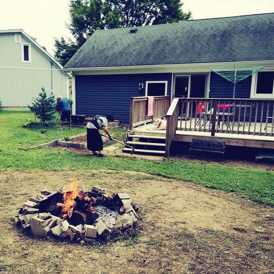 Garden work with fire
