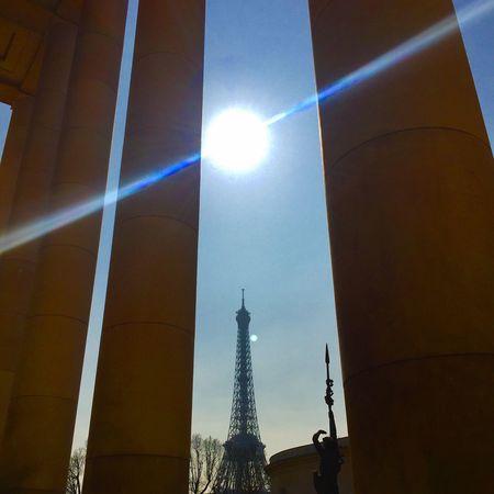 Cobalt Blue By Motorola Eiffel Tower Tour Eiffel Paris Sky Sunshine Blue Sky Lines