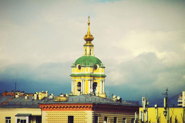 City Cityscape Architecture The Past Outdoors No People Old-fashioned Vertical Cloud - Sky Close-up Day Church Moscow, Москва Russia россия Building Exterior Sky Built Structure Architecture Stormysky