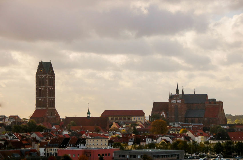 Skyline Wismar Harbor Architecture Building Exterior City Cityscape Day No People Outdoors Sky Wismar