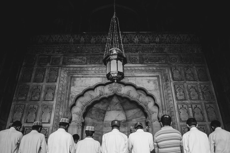 Lahore Religion Pakistan Islam Mosque BadshahiMosque Blackandwhite Prayer People And Places Monochrome Photography