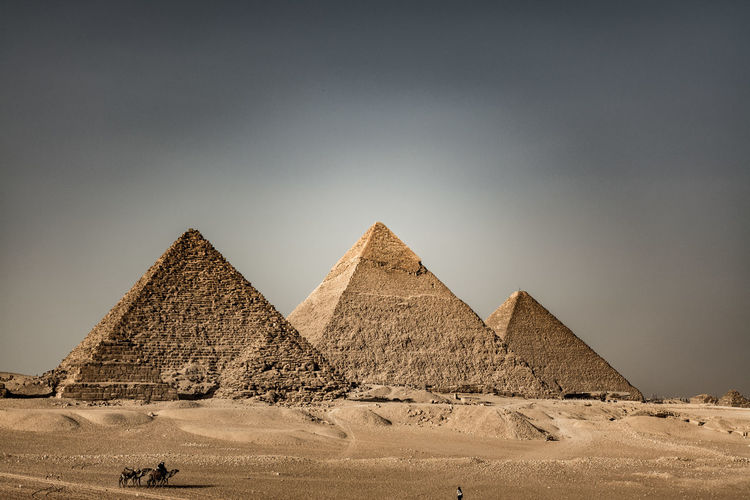 Pyramids at desert