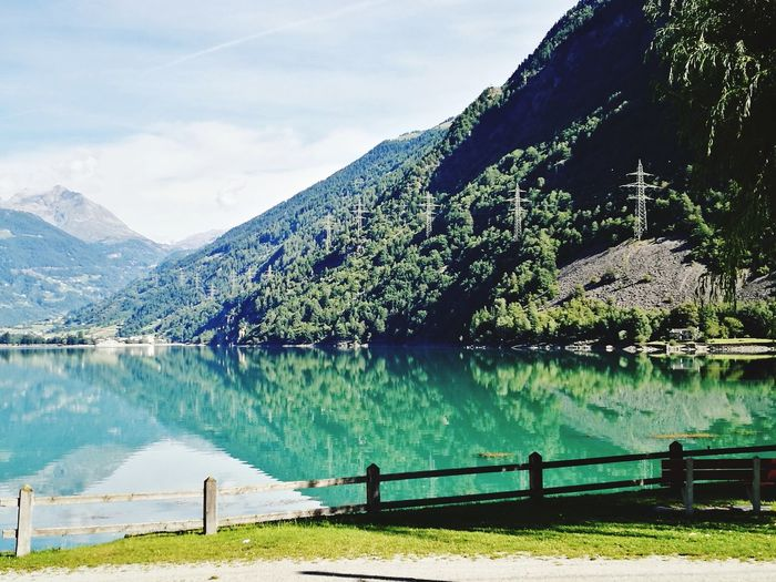 EyeEm Selects Lake Water Mountain Landscape Scenics Outdoors Pinaceae Day Tree Nature Pine Tree Mountain Range Sky No People Beauty In Nature Lake View Miralago Lago Di Poschiavo Travel Destinations Treninorossodelbernina Switzerland Alps Bernina The Week On EyeEm Your Ticket To Europe
