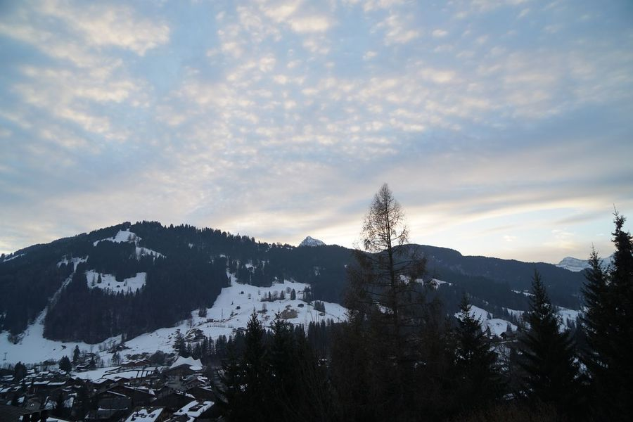 Like music I❤️Gstaad Bolonie Style Bolonie Art Bolonie Snow Mountain Winter Nature Tranquility Beauty In Nature Sky Scenics Landscape No People Outdoors Cold Temperature Tranquil Scene Tree Cloud - Sky Day Range