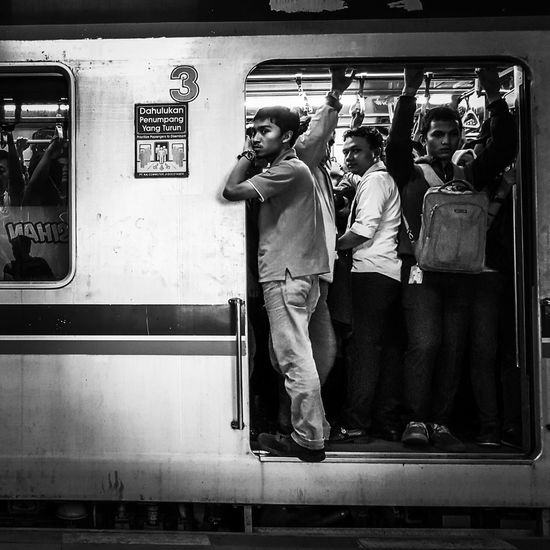 Waiting for departure.. My Commute Daily Life Everyday Indonesia Snapshot Street Photography Black & White Mobile Photography