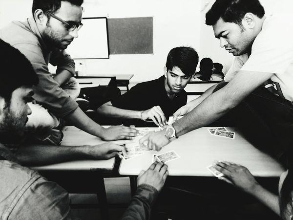 College Life Collegefriends Having Fun :) Playing Poker Blackandwhite Black And White Awesome Days Of College Memory