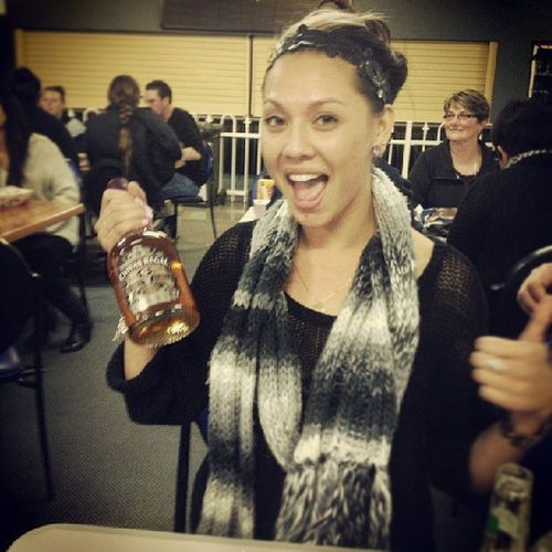 Trivia nite ... won a Bottle of Chivas , cos I threw my $2 coin the closest ! Fukin Stolked !! :)