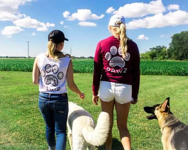 Pawz Clothing Pawz Dog Pets Outdoors Domestic Animals Mammal Sky Women Standing Young Women Clothing Clothing Line Clothing Brand Sponsor Sponsored Only Women People Nature Dogs Dog Love Dogs Of EyeEm Dogslife