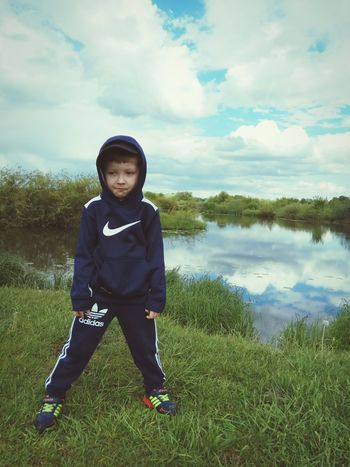 Child Children Only One Boy Only Childhood Full Length One Person Looking At Camera Boys Front View Cloud - Sky Males  Portrait Headwear People Grass Standing Day Sky Outdoors Adult