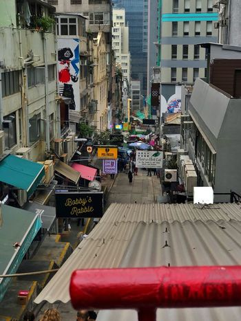 Hongkong Central Midlevel Street Chaos Impression Downwards Street Steep Midlevel HongKong Architecture Building Exterior Built Structure City Outdoors Day No People