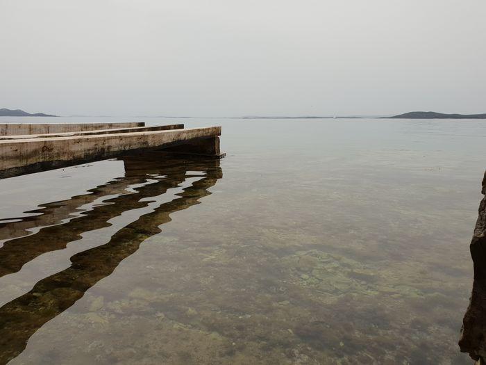 Island Dalmatia Pakoštane Water Sea Salt - Mineral Beach Low Tide Standing Water Sky Landscape