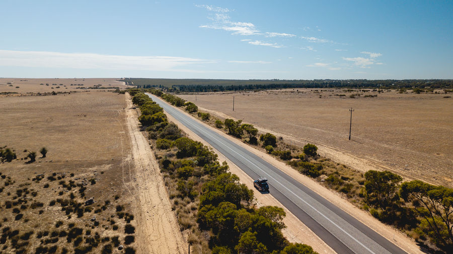 little roadtrip Road Sky Environment Landscape Transportation Land Nature Scenics - Nature Day Horizon Tranquil Scene No People Sunlight Field Direction Cloud - Sky Tranquility Beauty In Nature The Way Forward Non-urban Scene Outdoors Arid Climate Drone Photography Roadtrip Australia
