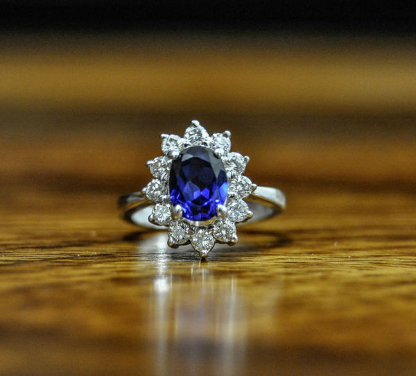 Sapphire White Gold Ring Fine Art Photography Sapphire Ring Handmade Jewellery Handmade Ring Rings Ring Precious Gem Diamond Ring White Gold Ring