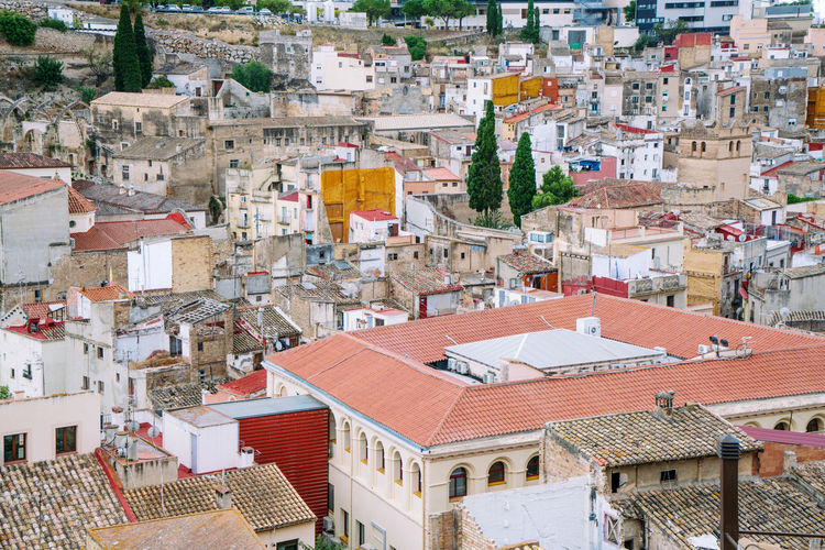 View on historic tortosa city from above
