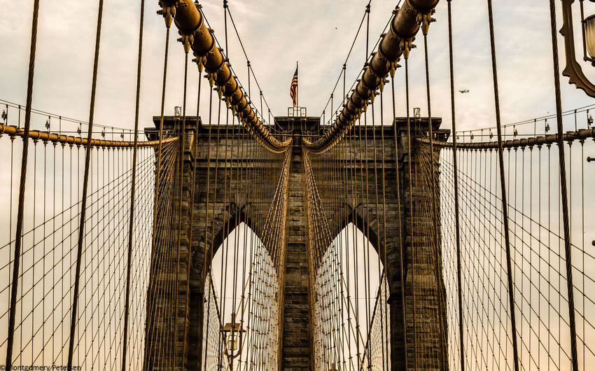 2016 2016 EyeEm Awards Architecture Brooklyn Bridge  Built Structure City Connection December New York Outdoors Suspension Bridge
