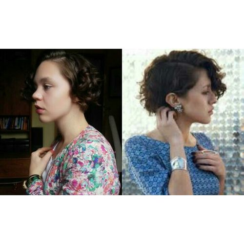 Me vs. Karla Deras Karla Deras Karla And Me  Karla ❤ Hairstyle Hello World New Haircut Cherry On Top Curly Hair Fashion&love&beauty That's Me!