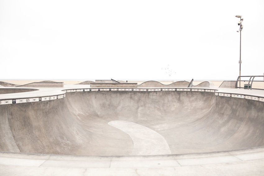 The LA Series / 35mm / Canon 5d Architecture Sky Built Structure Clear Sky Nature Dam Copy Space No People Day Concrete Water Outdoors Skateboard Park Wall Sports Ramp Fuel And Power Generation Environmental Conservation Skateboarding Skateboard Venice Beach