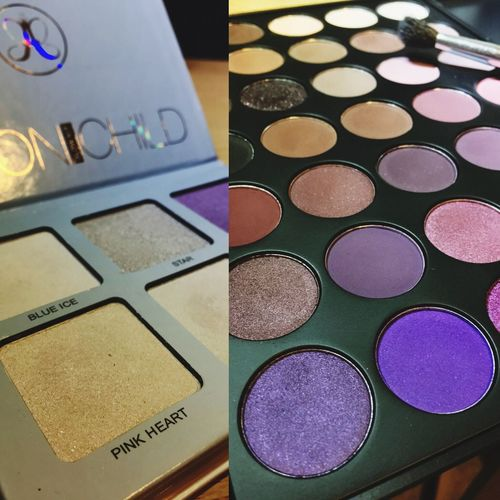 New makeup is literally like untouched snow. Close-up Full Frame Arrangement Collection Edited Makeup Makeup ♥ Anastasiabeverlyhills Moonchild MorpheBrushes Eyeshadow Purple Highlight