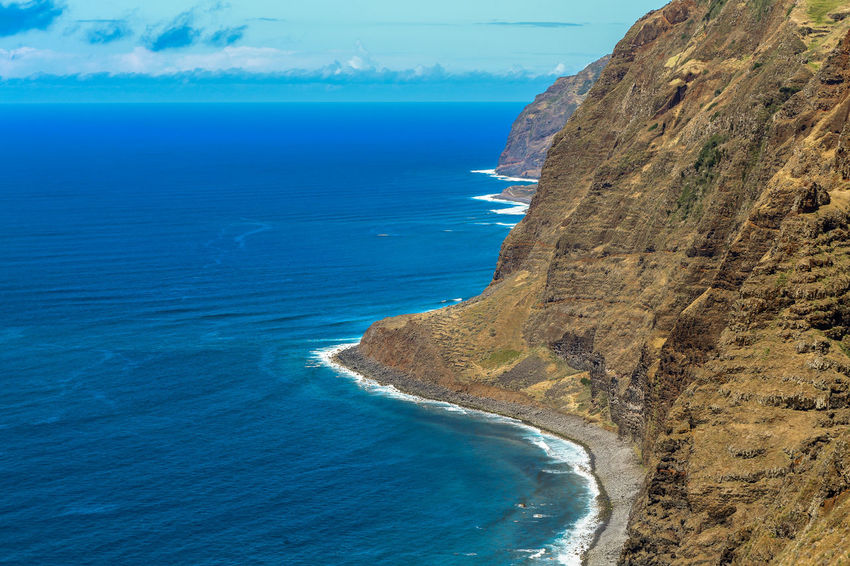 Beach Beauty In Nature Coastline Day Horizon Over Water Landscape Madeira Island Nature No People Outdoors Sand Scenics Sea Sky Tourism Travel Destinations Water
