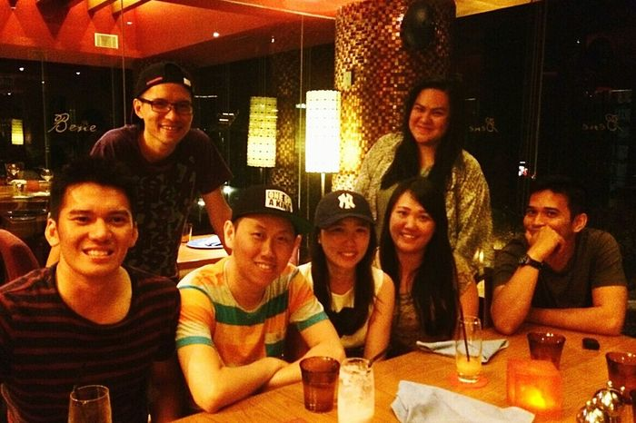 First 2015 fun dinner :) Aglio Olio Pasta Bene SheratonHotel Bali, Indonesia Reds Merlot