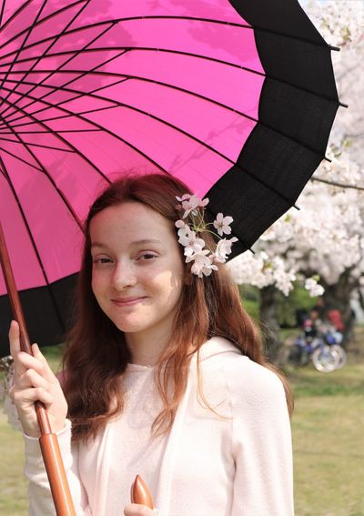 Pink For Spring Umbrella Parasol Portrait One Person Real People Young Adult Protection Holding Flowering Plant Leisure Activity Flower Young Women Smiling Lifestyles Front View Women Day Casual Clothing Beautiful Woman Hairstyle Pink Color Outdoors Park Looking At Camera Happiness Young Woman Human Hand Redhead Red Head Girl Red Hair Ginger Ginger Hair Fragility Cherry Blossom Cherry Blossoms Cherry Tree Spring Springtime My Best Photo