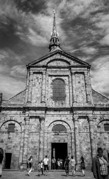 France Saint Michael's Mount Black And White Collection  Black And White Photography Black And White Abbey Architecture Built Structure Religion Place Of Worship Spirituality Cloud - Sky Sky