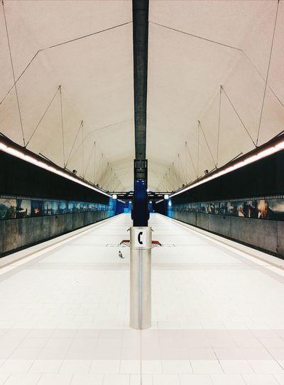 Killesberg. Underground Symmetry Architecture Train Station