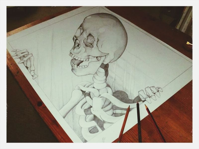Check This Out Awesome Art Skeleton 3D drawing