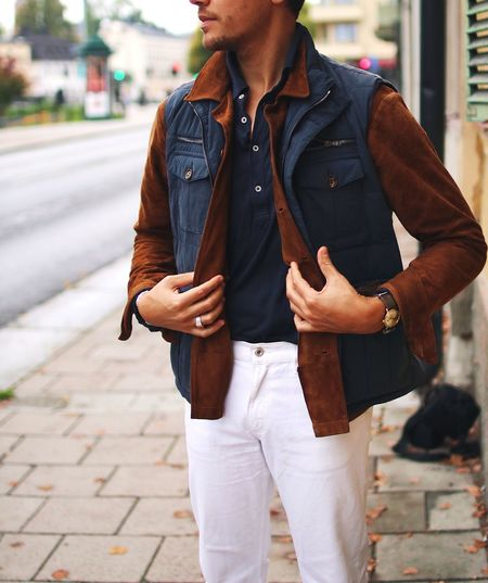 The suede shirt One Person Real People Standing Casual Clothing Lifestyles Front View Outdoors Street Leisure Activity Fashion Day Men Young Adult Young Men One Man Only City Only Men Adult People Adults Only Menswear Menstyle Casualstyle Fashion Photography