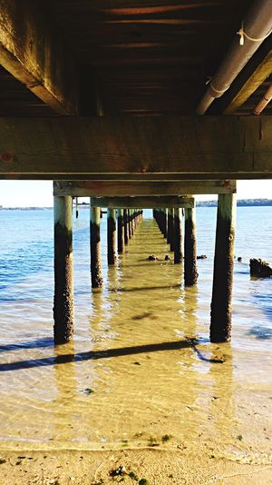 Underneath Below Connection Bridge - Man Made Structure Water Pier Sea Nature Outdoors Architecture Bay Area Angles