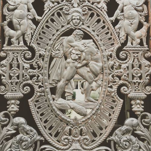 Carving - Craft Product Close-up Cultures Heracles Heracles Gate Nemean Lion Outdoors Religion Sculpture Spirituality Statue