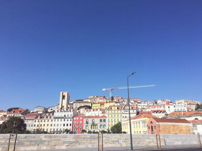Procura por mim Lisboa Architecture Sky Built Structure Building Exterior Clear Sky City EyeEmNewHere Building Street Light Blue Sunny EyeEmNewHere