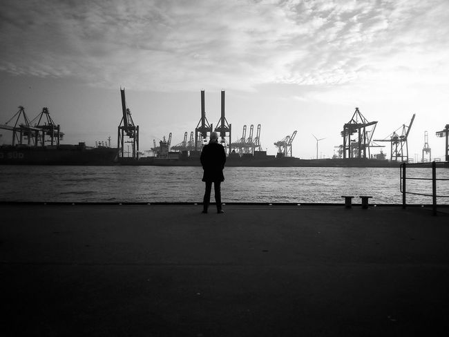 Hamburg Harbour Blackandwhite Wunderontour