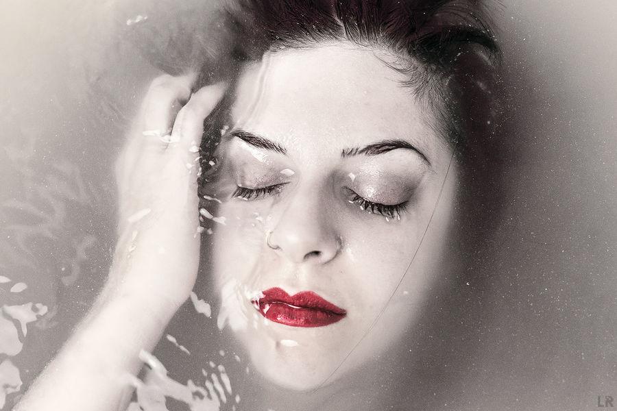 Woman Art Bathtub Model Portrait, Water, White Woman Portrait
