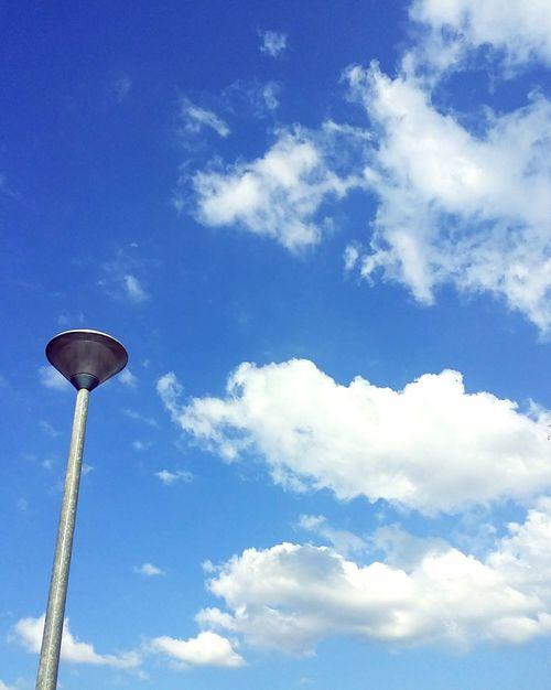 Lamp Post Cloudporn Cloudscape Scenics Tranquility Bluesky
