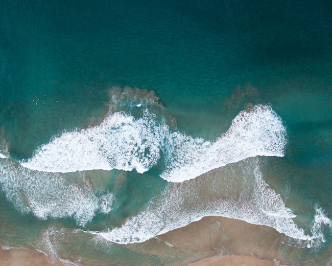 Close-up of wave on beach