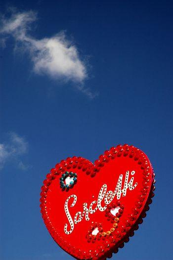 Munich EyeEm Munich Oktoberfest Octoberfest Love Heart Blue Sky Redandblue Clouds EyeEm Masterclass