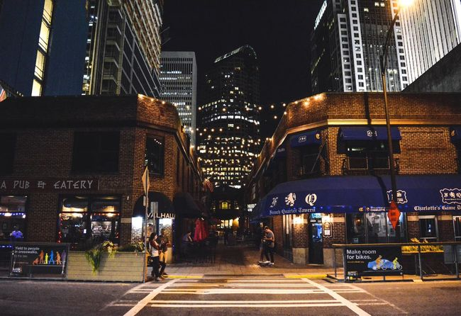 Charlotte Nc Charlotte Weekend Nightshot Nightsky Traveling Travel Downtown Building Lights